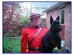 mountie with scottie dog