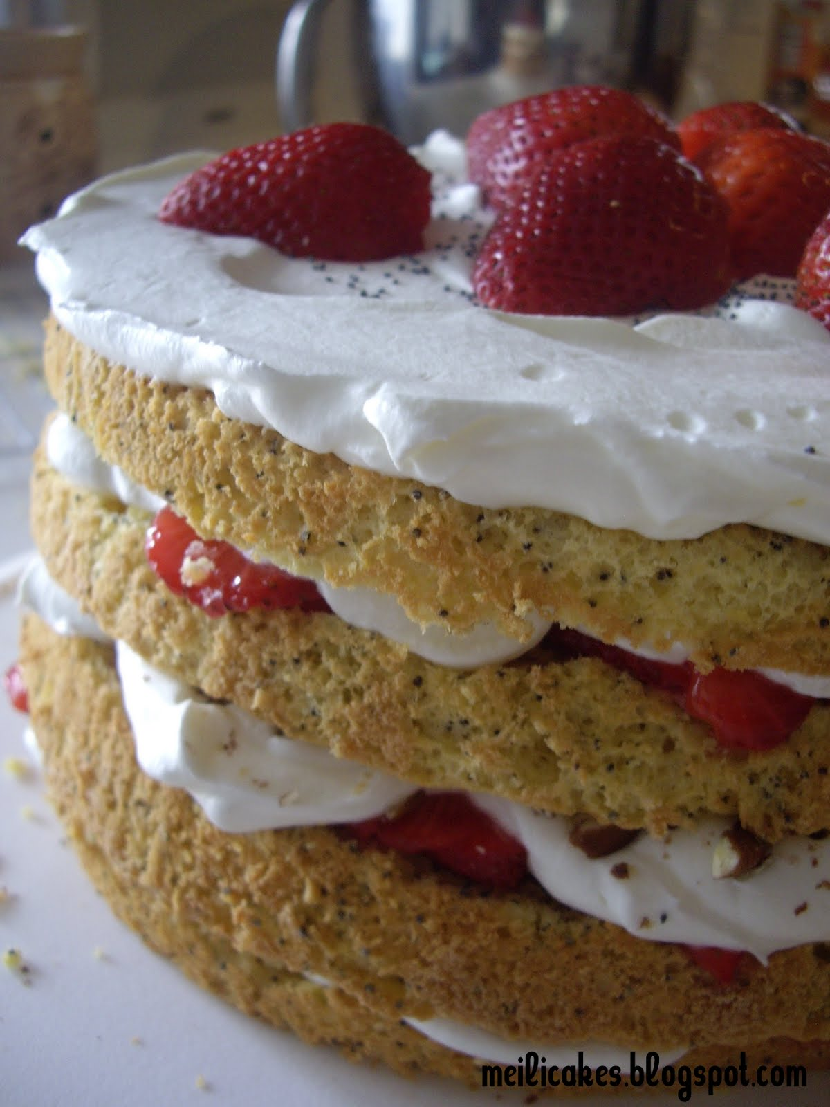 Meili's: Lemon Poppyseed Strawberry Shortcake