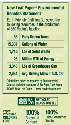 360 Vodka - sustainable drinking?