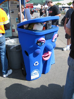 San Diego Earth Day 2008 at Balboa Park - San Diego Recycling department recycle bin costume