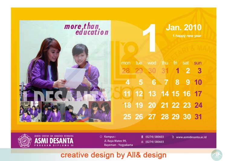 Template Kalender Meja Photoshop Free