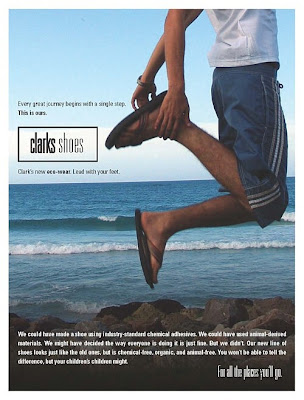 clarks shoe advertising marketing slogan
