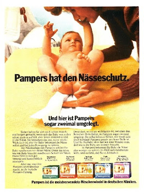 Pamper diaper Procter & Gamble advertisements marketing promotion