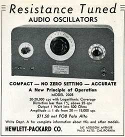 HP-Hewlett-Packard-first-ad-commercial-electronics-magazine