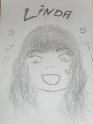 my friend's drawing of me. LOL