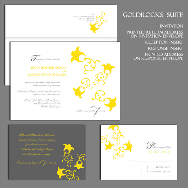 Goldilocks Wedding Invitation Suite