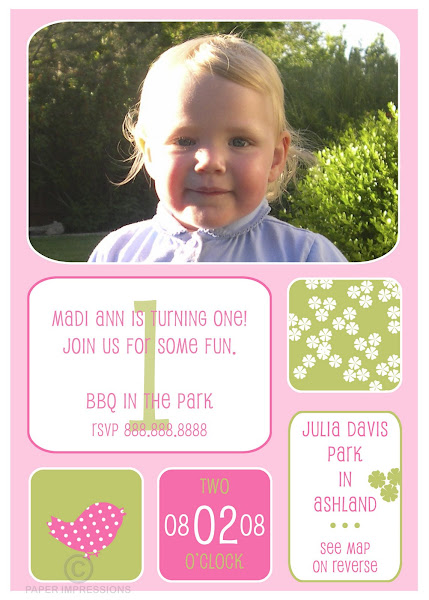 Purdy Birdy Birthday Invitation
