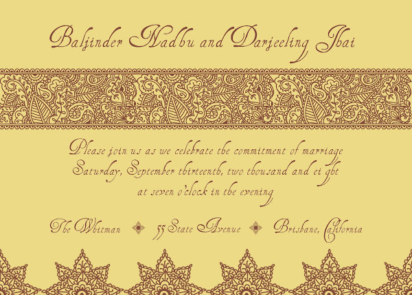Quintessential India Wedding Invitation