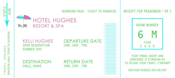 Travel Ticket Birthday Invitation