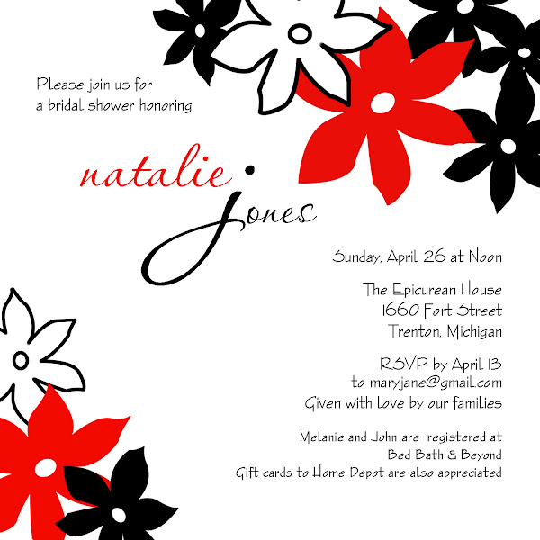 Day Dream Bridal Shower Invitation