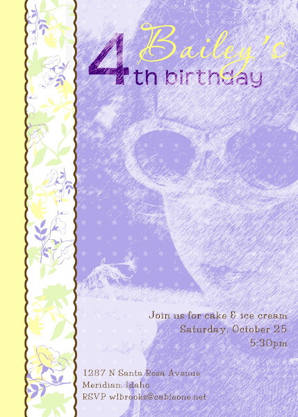 Country Flower Portrait Birthday Invitation