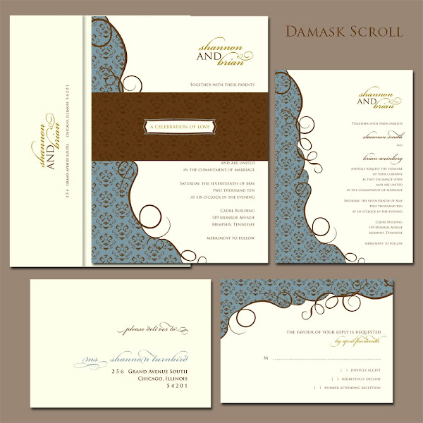 Damask Scroll Suite