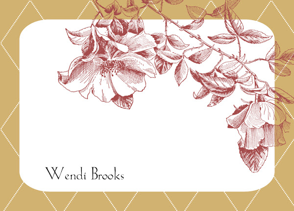 Rich Waverly Botanical Note Cards