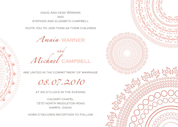 Mimosa Wedding Invitation