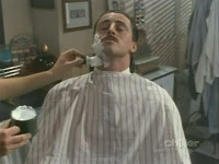 having a shave