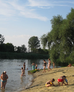 River Swimming in the Ukraine