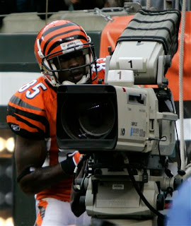 Chad Johnson commandeers a camera
