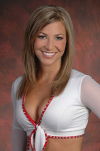Megan J of the Arizona Cardinals Cheerleaders