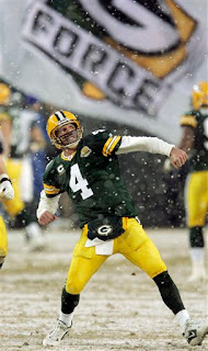 Brett Favre played like a kid again