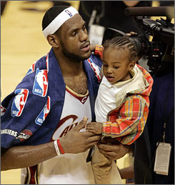 Lebron and Lebron Jr, last year