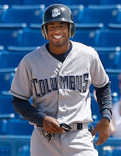 Brandon Watson smiles after extending his hitting streak to 43 games (not pictured: Watson punches a hooker after going 0 for 5 in the next game)