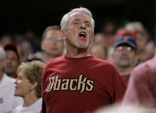 an angry Diamondbacks fan