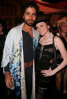 Adrian Grenier dressed as I don't know what...a herion addict maybe with Playmate Scarlett Keegan