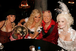 Hef with The Girls Next Door, Kendra, Bridget and Holly