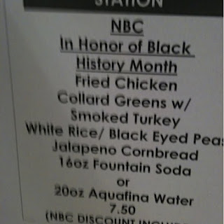 NBC's black history month menu