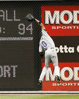 another great catch by Endy Chavez
