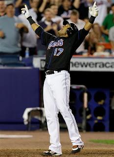 Fernando Tatis celebrates a home run in his usual way