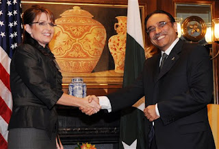 Zardari and the gorgeous Sarah Palin