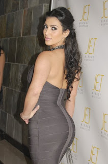 the huge booty of Kim Kardashian