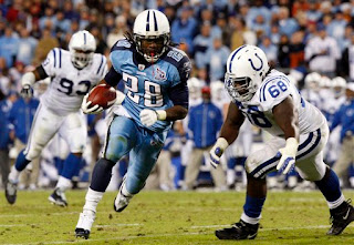 Chris Johnson helped the Titans run over the Colts and remain undefeated