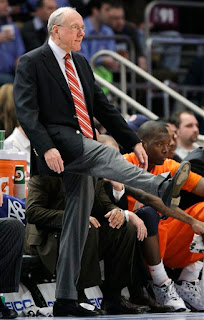 Obligatory picture of Jim Boeheim looking like an idiot