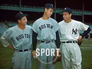 Dom Dimaggio with Joe Dimaggio and Ted Williams