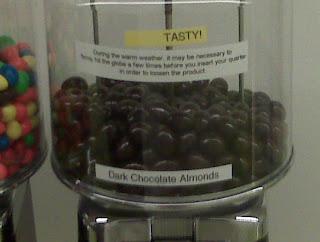 the dark chocolate almonds got my back