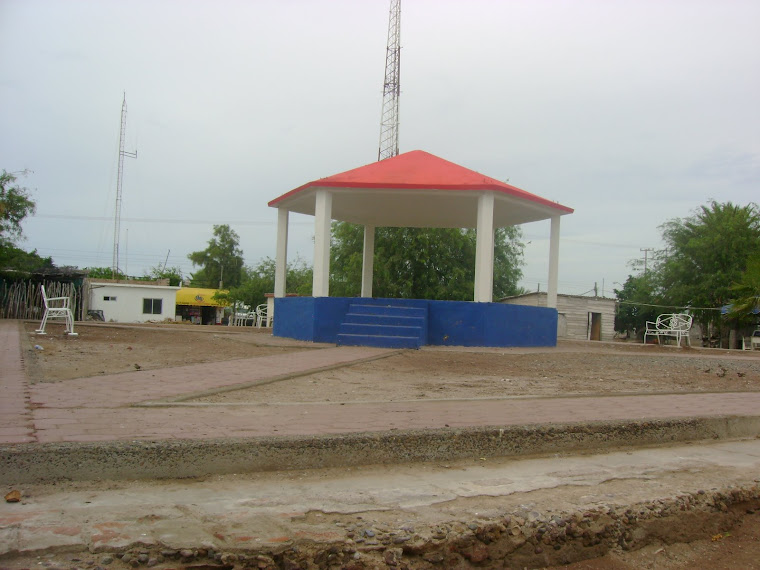 Vistosa plazuela de Paredones, municipio de Vicam, Sonora