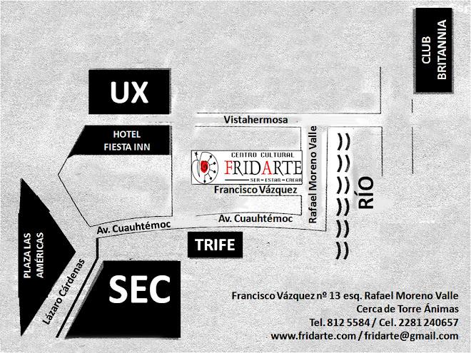 Mapa para llegar a FridArte
