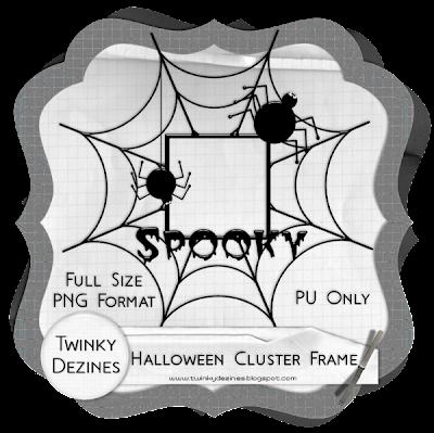 http://twinkydezines.blogspot.com/2009/10/halloween-cluster-frame-freebie.html