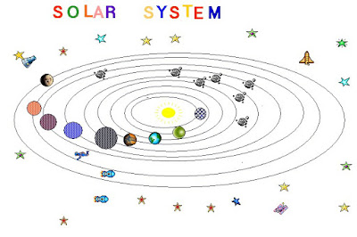 solar system black and white clipart - photo #25
