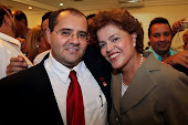 Wagner com Dilma Rouseff