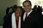 Wagner com Leci Brandão