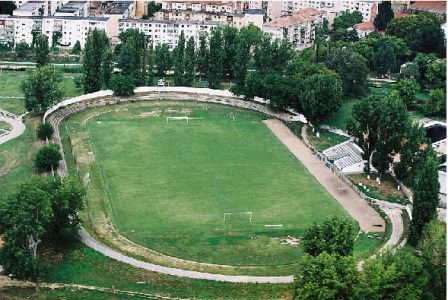 Vedere aeriana a stadionului