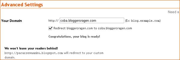 Cara Merubah Blogspot Ke .com