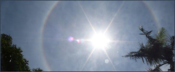 Foto Fenomena alam Halo Matahari di Yogyakarta
