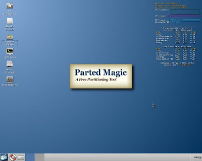 Parted Magic Desktop