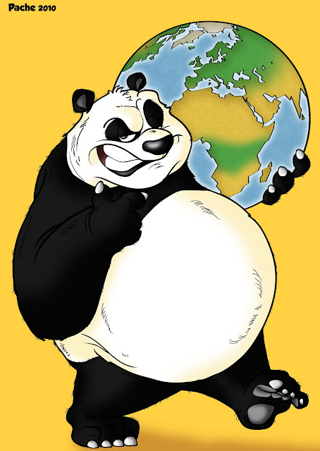 Oso panda en caricatura - Imagui