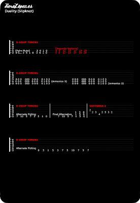 Tablaturas guitarra Duality
