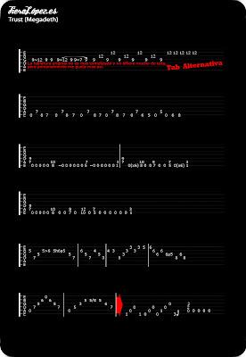 Tablaturas guitarra Trust Megadeth
